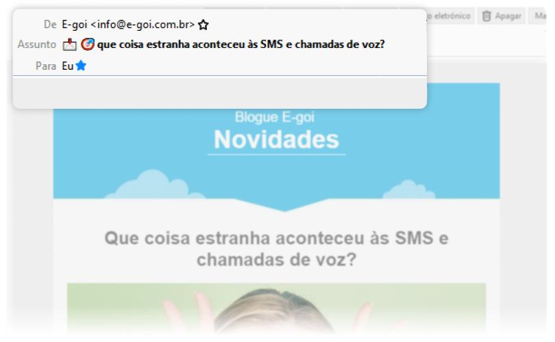 Exemplo de email com personalização e utilização de emojis | E-goi