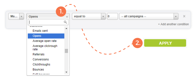 Email Marketing Segmentation - Filter by who does not have campaign openings | E-goi