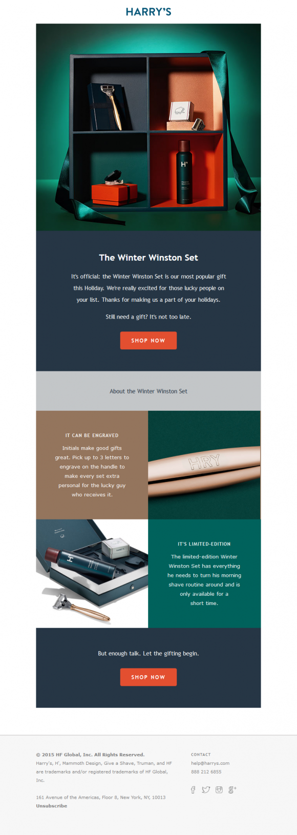 Harry's - Template para Email Marketing