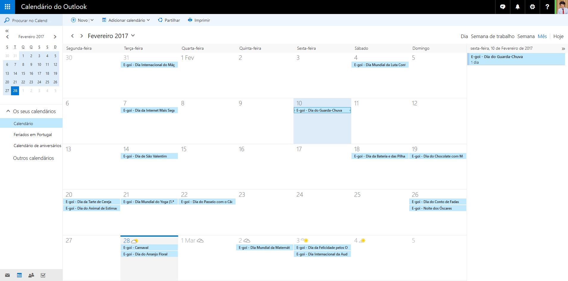 Calendario Outlook.2017 Social Media Marketing Calendar Integrates With