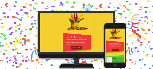 Templates de email marketing grátis para carnaval